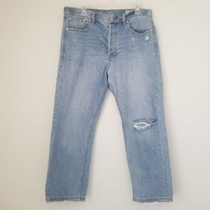 Free People Distressed Straight jeans Size 30